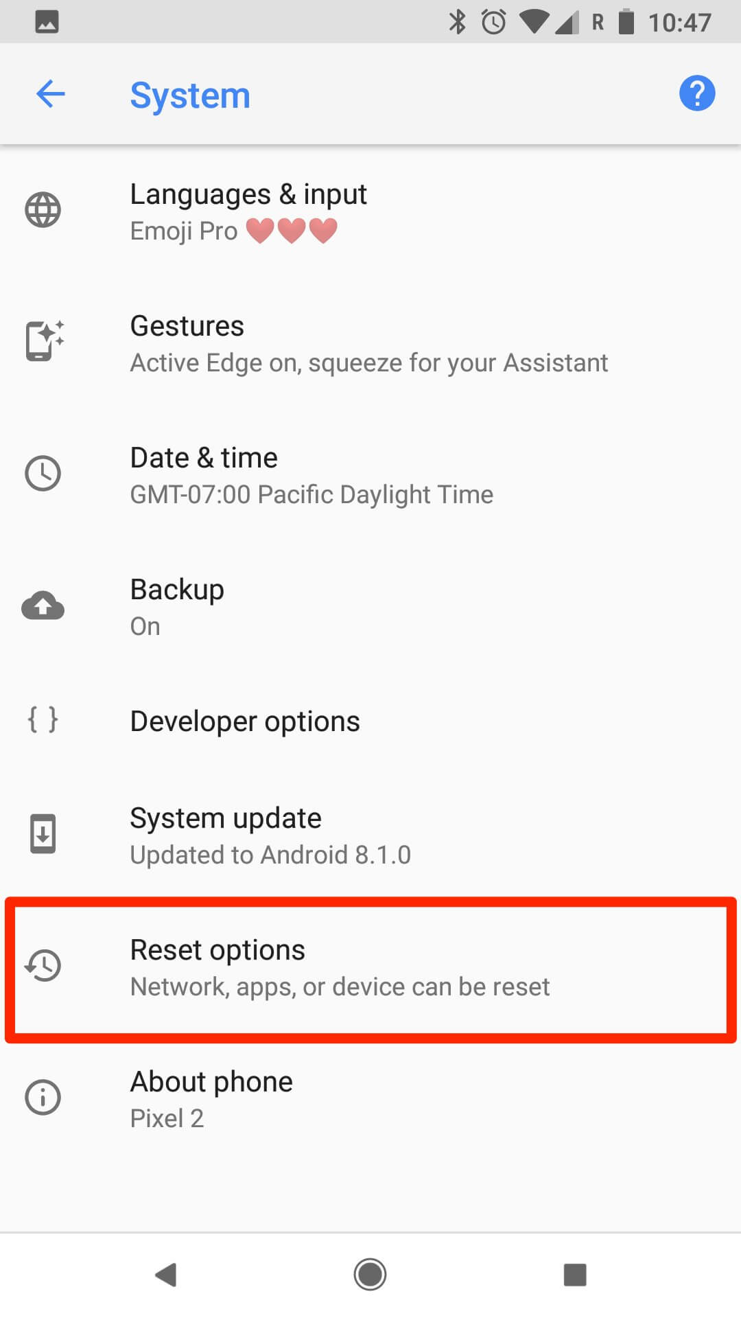 Factory Reset Android Phone