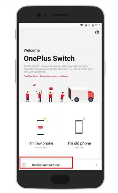 Backup OnePlus Phone Via OnePlus Switch