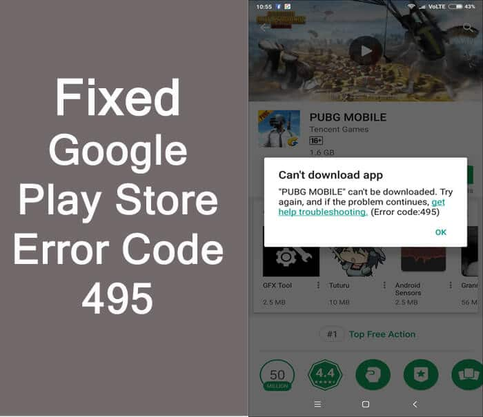 How To Fix Play Store Error Code 495, Can't Download or Update App