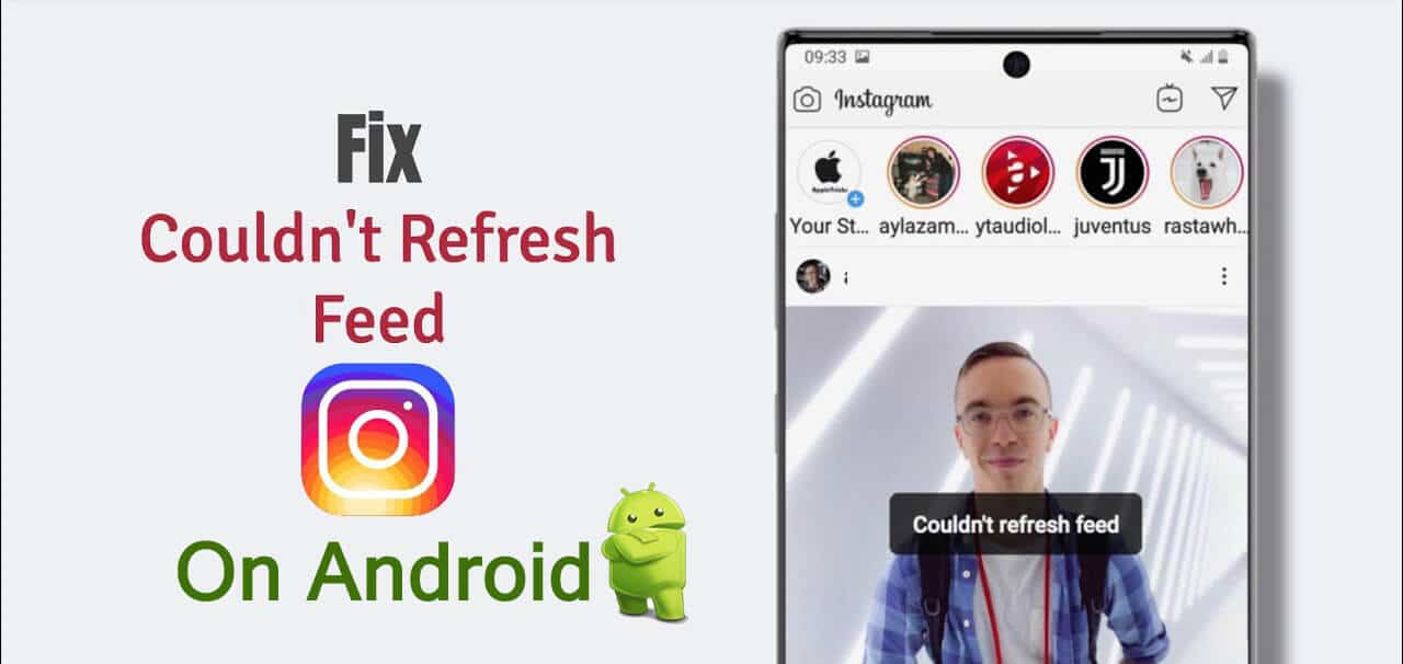 Here how to fix instagram couldn't refresh feed