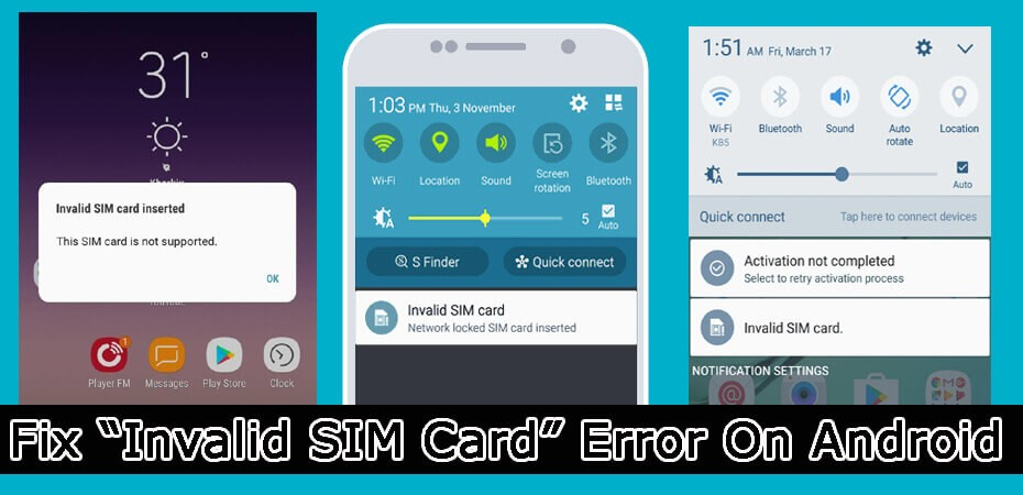 How To Fix Inavalid SIM Card Error On Android