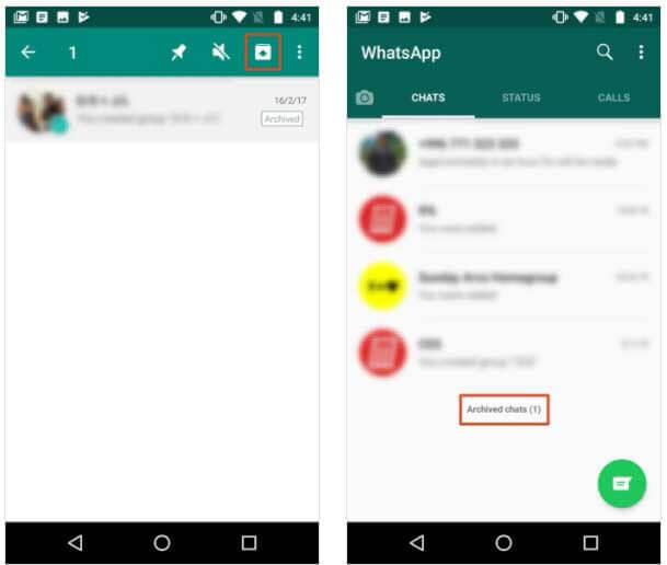 Restore Archived WhatsApp Chats On Android